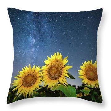 Sunflower Galaxy II Throw Pillow