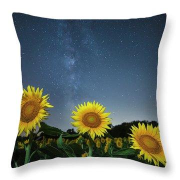 Sunflower Galaxy V Throw Pillow