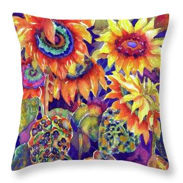 Sunflower Garden I Throw Pillow