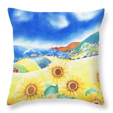 Sunflower Hills Throw Pillow