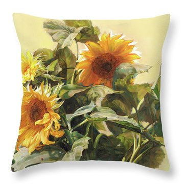 Sunflower In Love - Good Morning America Throw Pillow