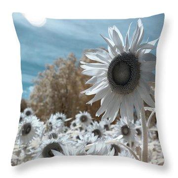 Sunflower Infrared  Throw Pillow