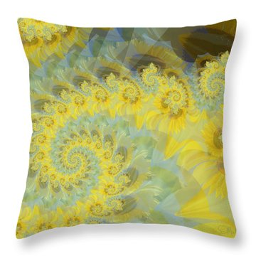 Sunflower Infused Throw Pillow