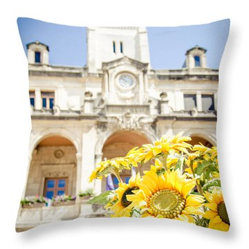 Throw Pillow featuring the photograph Sunflower by Jason Smith