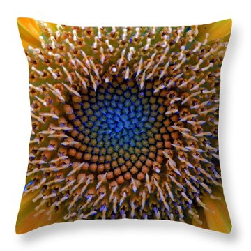 Sunflower Jewels Throw Pillow by Suzanne Stout