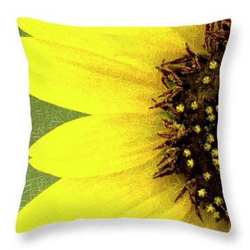 Throw Pillow featuring the photograph Sunflower by Joe Paul