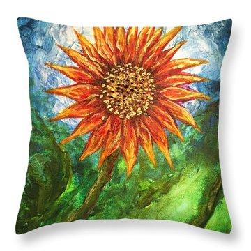 Sunflower Joy Throw Pillow