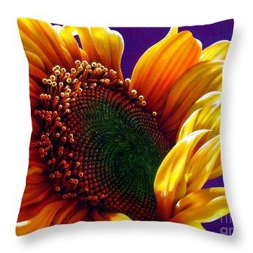 Sunflower Throw Pillow by Jurek Zamoyski