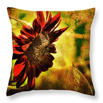 Throw Pillow featuring the photograph Sunflower by Lois Bryan