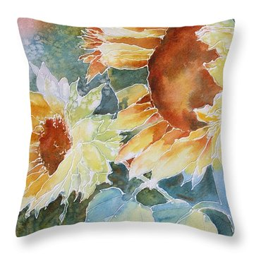 Sunflower Love Throw Pillow by Tara Moorman