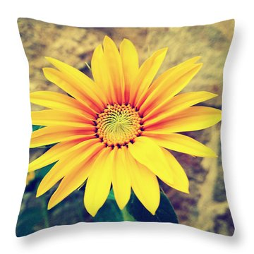 Throw Pillow featuring the photograph Sunflower by Lucia Sirna