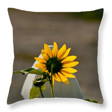 Sunflower Morning Throw Pillow by Douglas Barnett