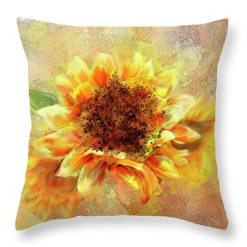 Sunflower On Fire Throw Pillow