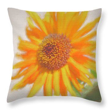 Sunflower Painting Throw Pillow