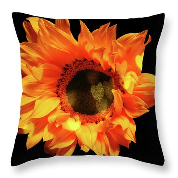 Sunflower Passion Throw Pillow