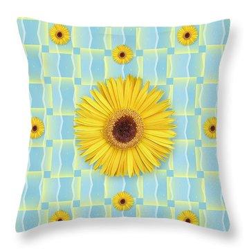 Sunflower Pattern Throw Pillow