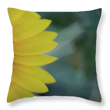 Sunflower Peeking.. Throw Pillow