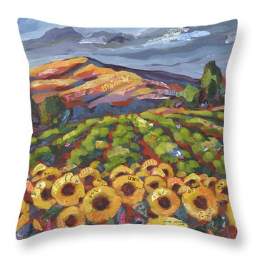 Sunflower Ranch Throw Pillow