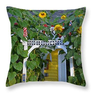 Sunflower Roads Throw Pillow
