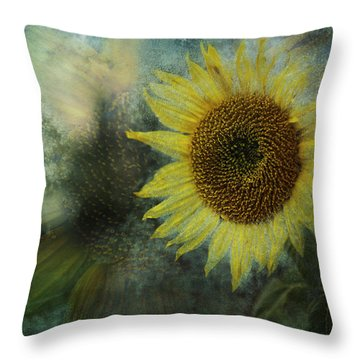 Sunflower Sea Throw Pillow