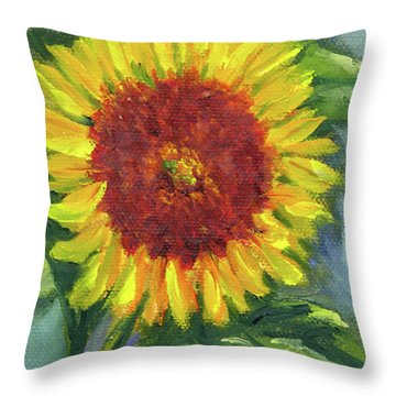 Sunflower Seed Packet Throw Pillow