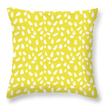 Throw Pillow featuring the mixed media Sunflower Seeds- Art By Linda Woods by Linda Woods