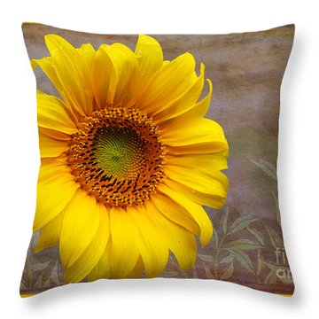 Sunflower Serenade Throw Pillow