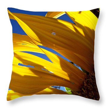 Sunflower Shadows Throw Pillow