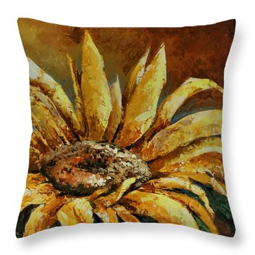 Sunflower Study Throw Pillow by Michael Lang