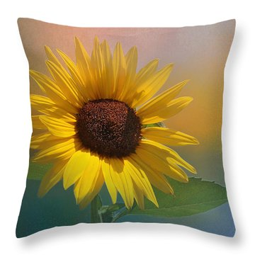 Sunflower Summer Throw Pillow