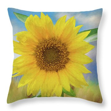 Throw Pillow featuring the photograph Sunflower Surprise by Bonnie Barry