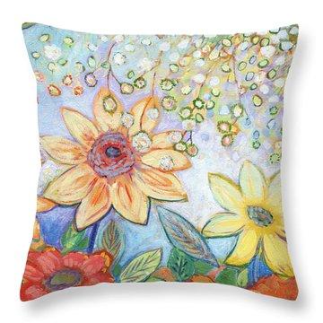 Sunflower Tropics Part 2 Throw Pillow
