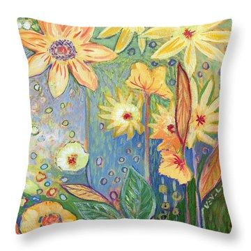 Sunflower Tropics Part 3 Throw Pillow