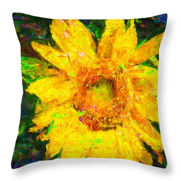 Sunflower Van Gogh Throw Pillow