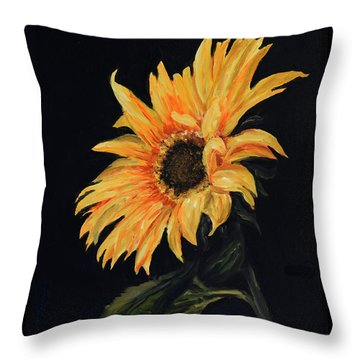 Sunflower Vii Throw Pillow