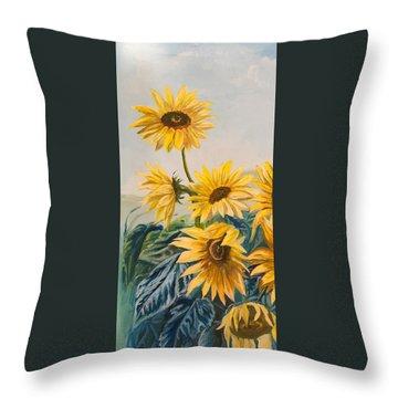Sunflowers 1 Throw Pillow by Jana Goode