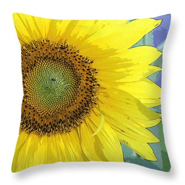 Sunflowers All Around Throw Pillow