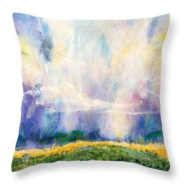 Sunflowers Throw Pillow by Amy Williams