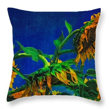 Sunflowers Awakening Throw Pillow