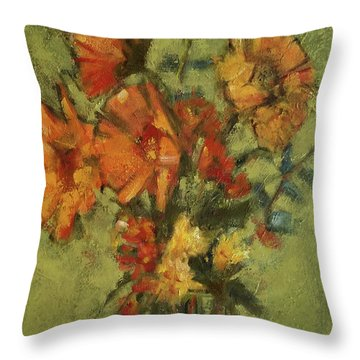 Sunflowers For Sunday Throw Pillow