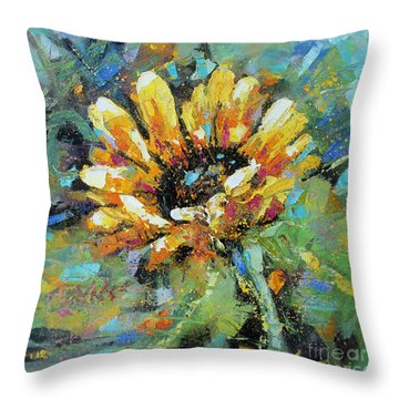 Sunflowers II Throw Pillow