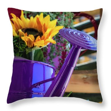 Complementary Sunflowers Throw Pillow