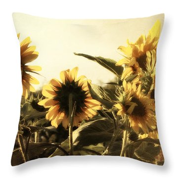 Sunflowers In Tone Throw Pillow