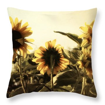 Throw Pillow featuring the photograph Sunflowers In Tone by Glenn McCarthy Art and Photography