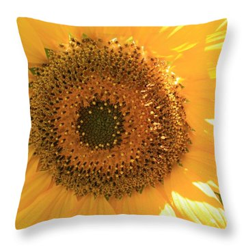Sunflowers  Throw Pillow by Marna Edwards Flavell