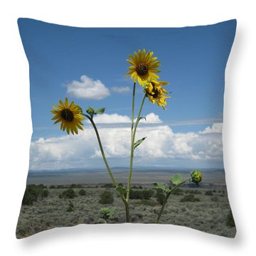 Sunflowers On The Gorge Throw Pillow