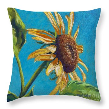 Sunflower's Shine Throw Pillow by Tracy L Teeter