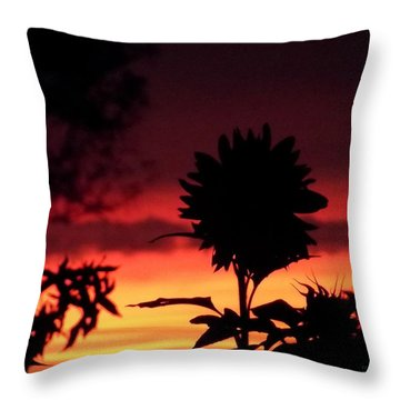 Sunflower's Sunset Throw Pillow