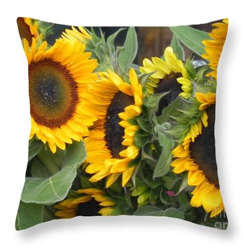 Sunflowers Two Throw Pillow by Chrisann Ellis