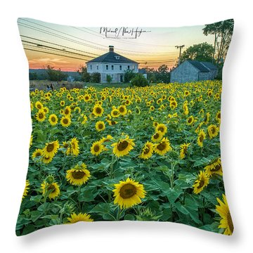 Sunflowers For Wishes  Throw Pillow